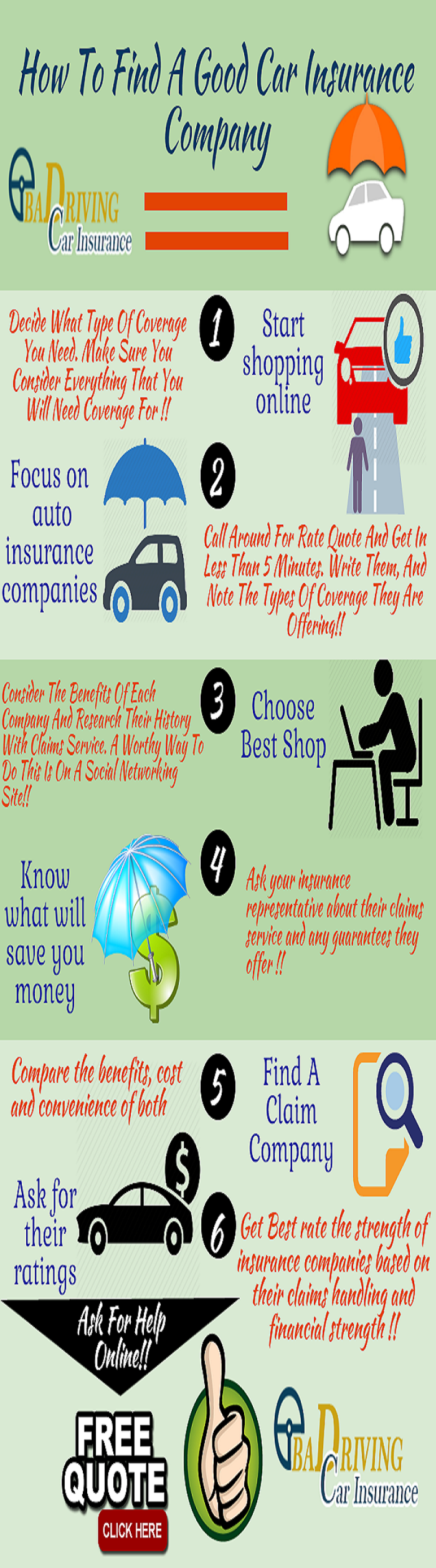 infographic how to find a good car insurance company. Black Bedroom Furniture Sets. Home Design Ideas